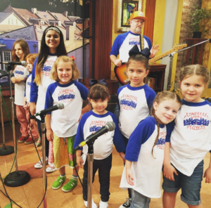 Confetti Park Players perform on the morning show for WWL-TV