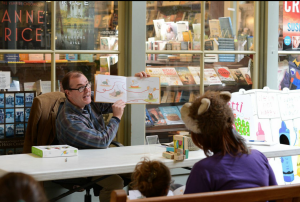 Author David Eugene Ray reading from The Little Mouse Santi. Photo by Sally Asher