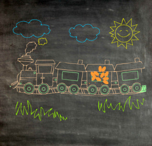 train on chalk