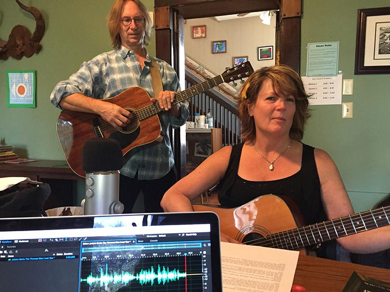 Julieann Banks, singer-songwriter from Shreveport, with her friend Patterson Barrett at Renzi Center