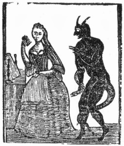 "Frontispiece for ""Forgotten Books of the American Nursery""— The Devil and the Disobedient Child."