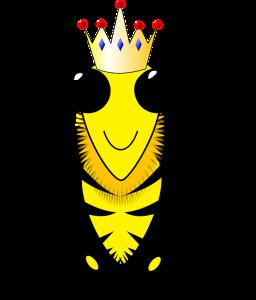 cartoon of queen bee