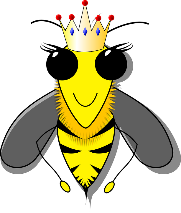 cartoon of queen bee
