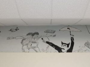 This mural was recently discovered while replacing the air conditioning system on the third floor of Byrd High. (Photo: Douglas Collier, The Times)