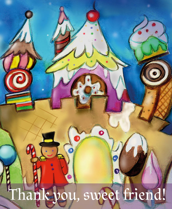 Thank you sweet friends, a scene from Candy Land Ball