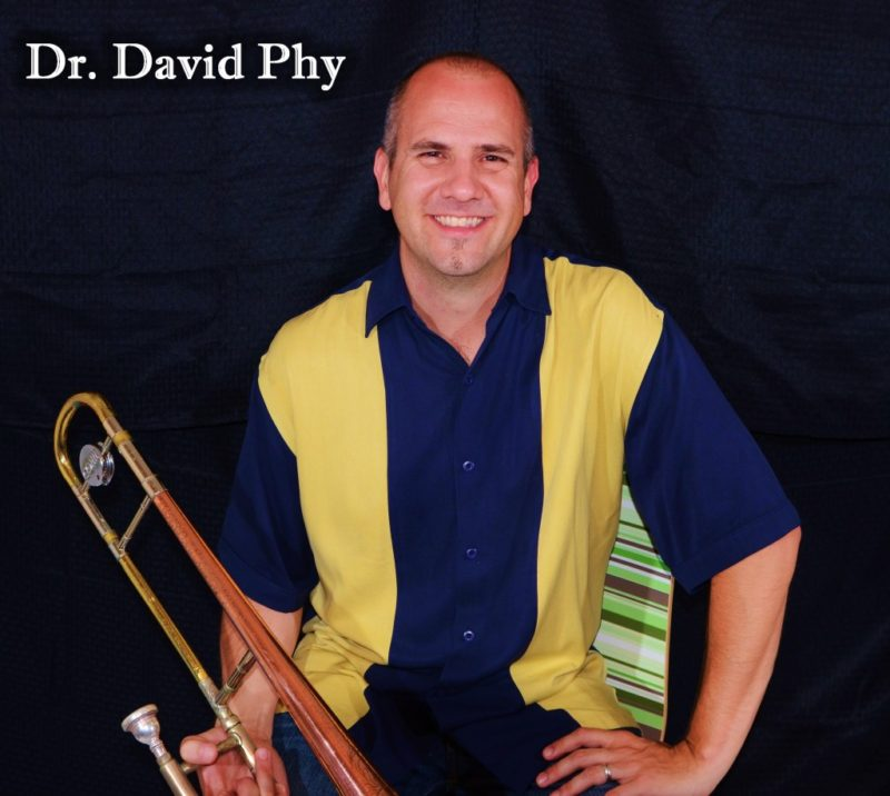 Dr. David Phy plays trombone