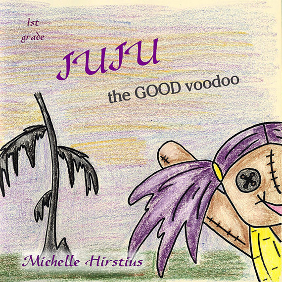 A book cover for JuJu the Bood Voodoo Doll