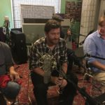 David Phy, Owen Callahan, and Jim Thornton at Word of Mouth recording studio