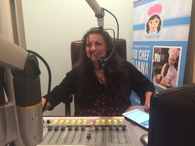 Dianne at the radio station