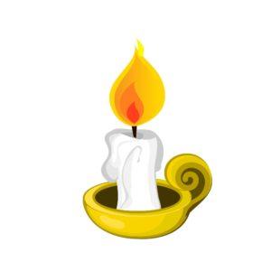 cartoon candle