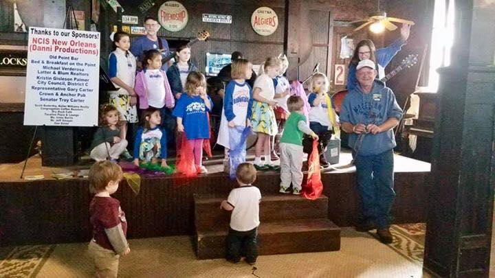 The Confetti Park Players sing to Mr. Kelly Phillips