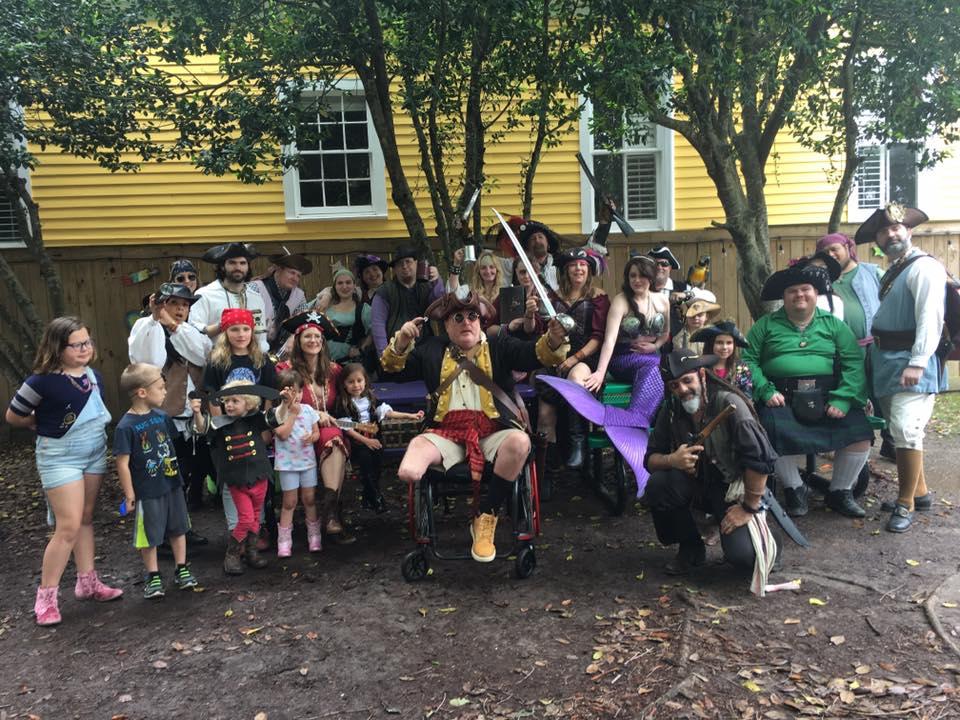 The pirates gather in Confetti Park!